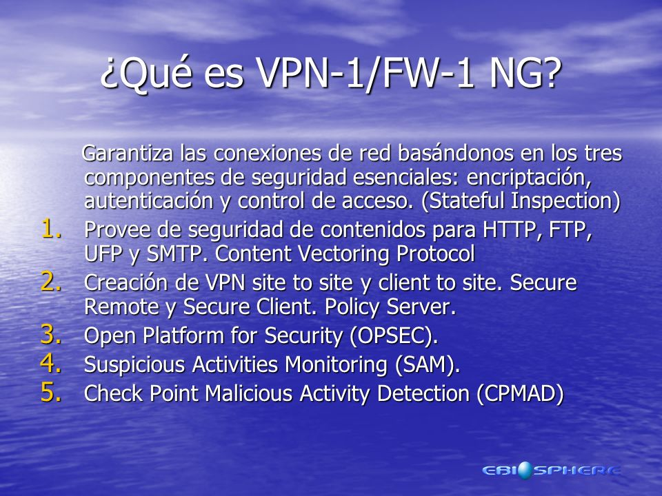 ¿Qué es VPN-1/FW-1 NG