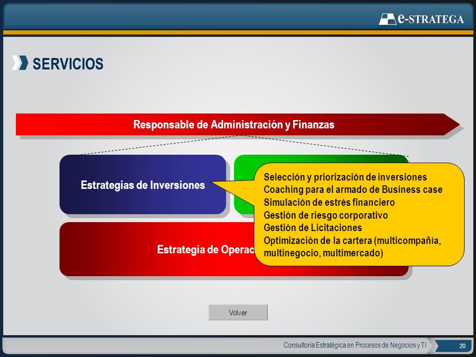 SERVICIOS Responsable de Administración y Finanzas