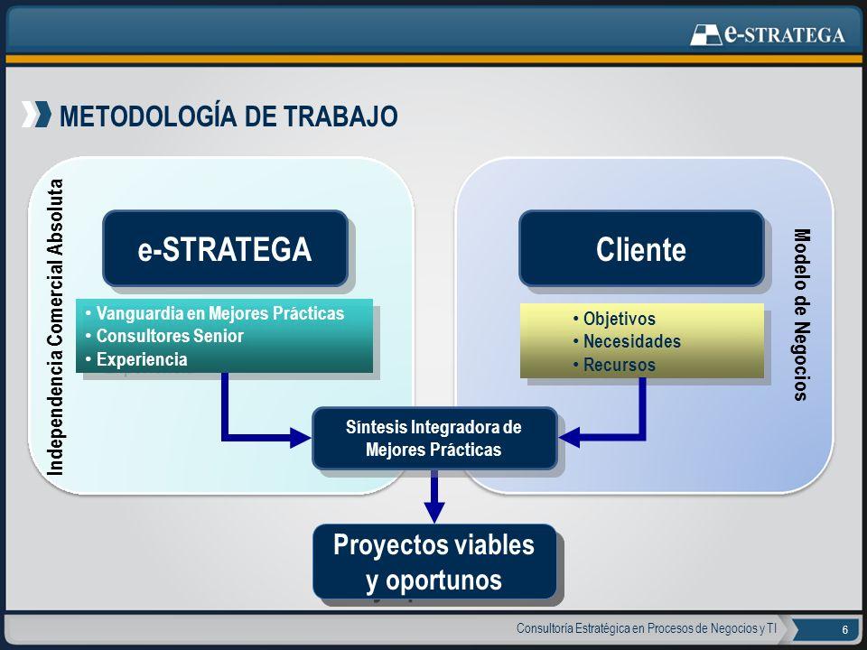 e-STRATEGA Cliente METODOLOGÍA DE TRABAJO