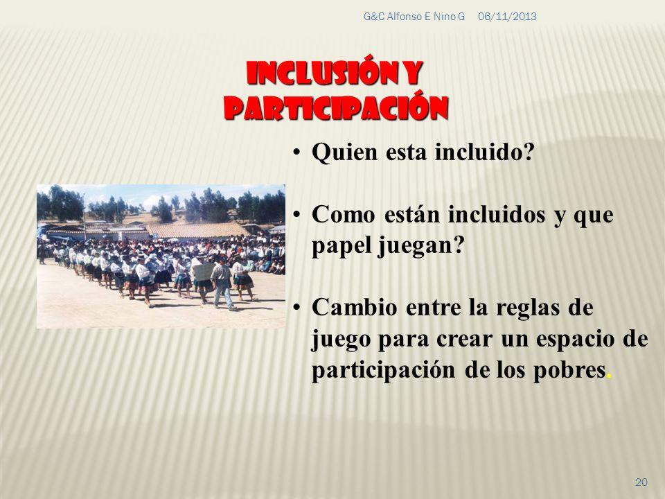 Inclusión y Participación