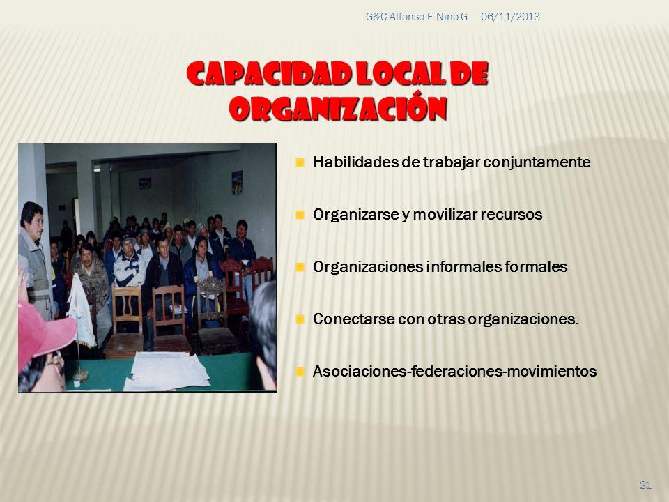 Capacidad local de organización