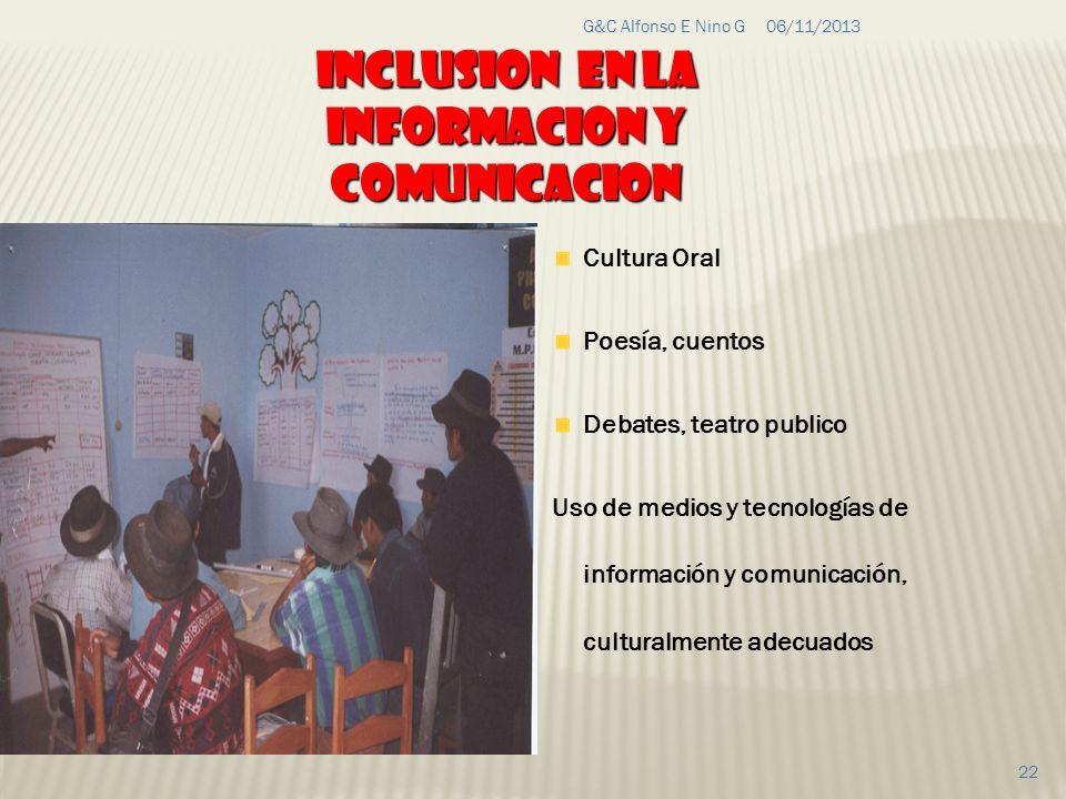 Inclusion en la informacion y comunicacion