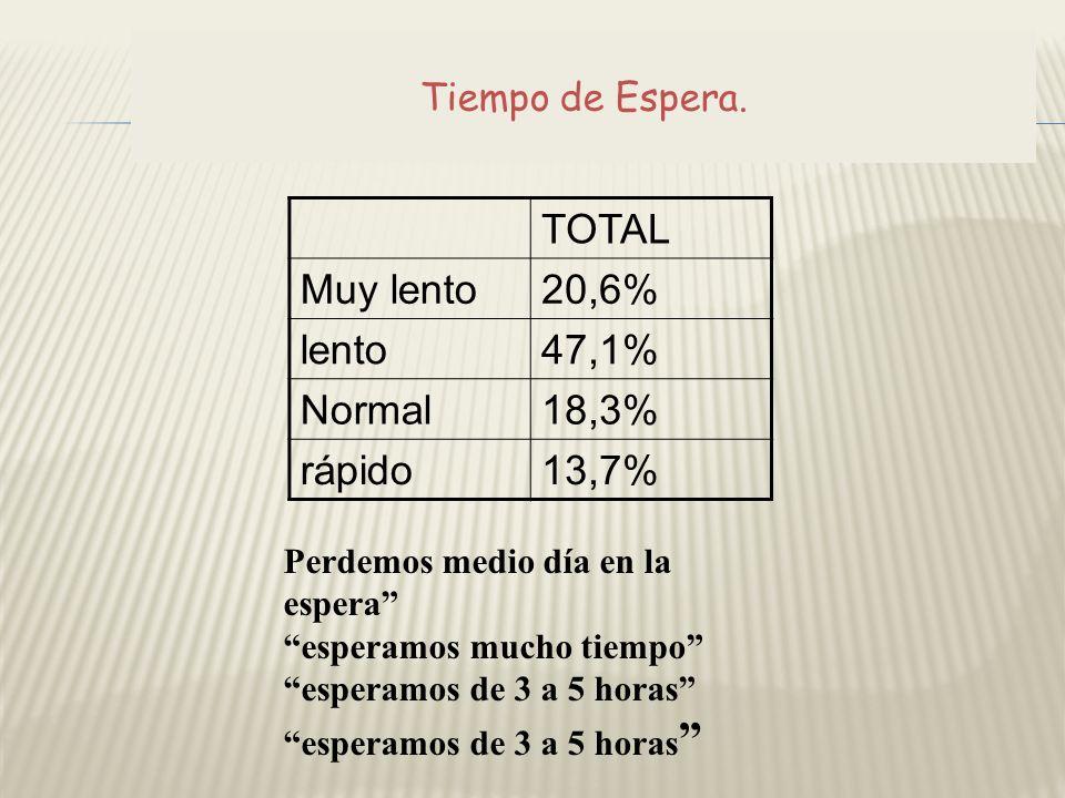 TOTAL Muy lento 20,6% lento 47,1% Normal 18,3% rápido 13,7%