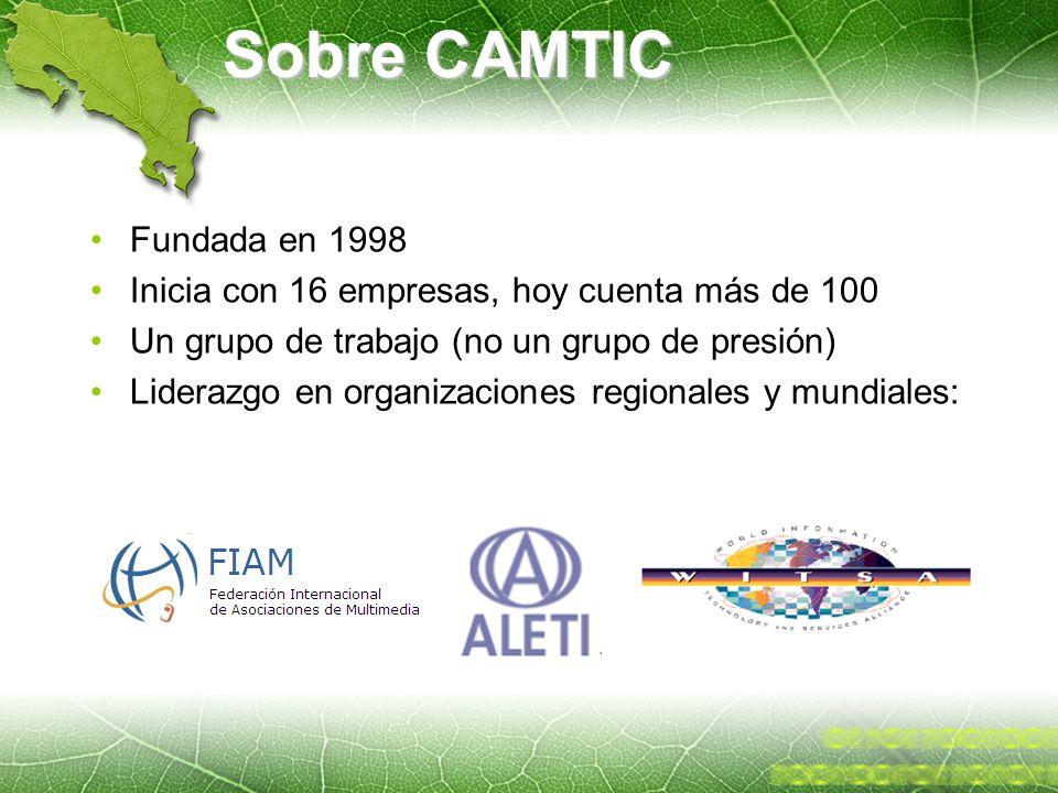 Sobre CAMTIC Fundada en 1998