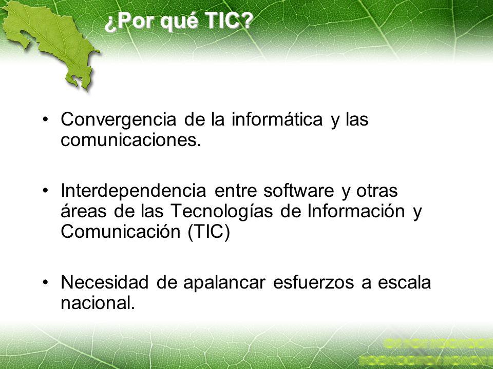 ¿Por qué TIC Convergencia de la informática y las comunicaciones.