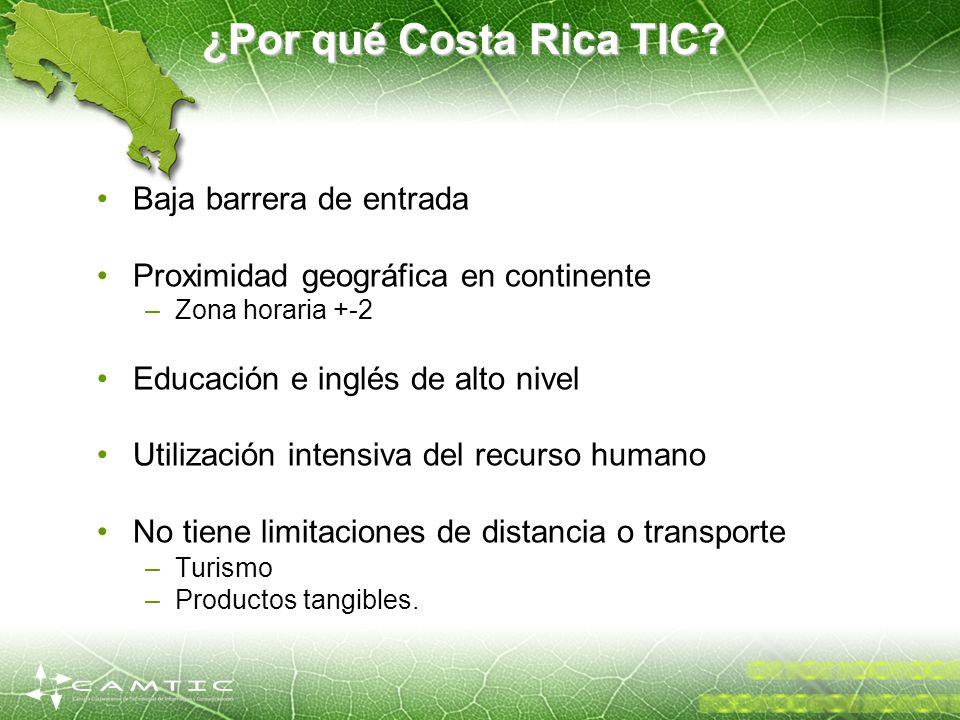 ¿Por qué Costa Rica TIC Baja barrera de entrada