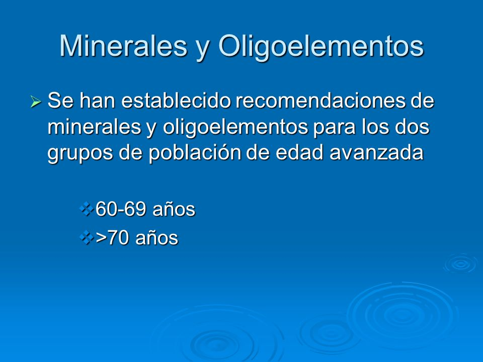 Minerales y Oligoelementos