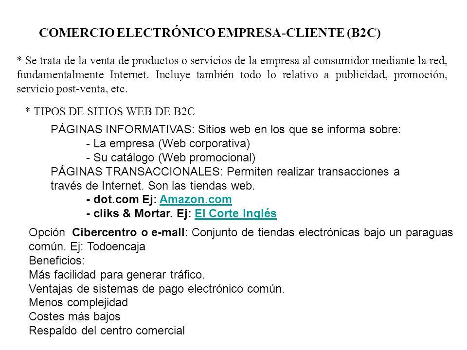 COMERCIO ELECTRÓNICO EMPRESA-CLIENTE (B2C)