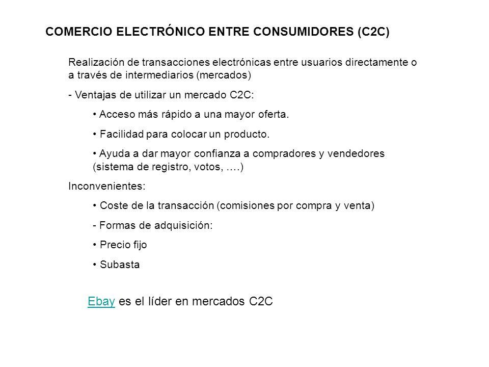 COMERCIO ELECTRÓNICO ENTRE CONSUMIDORES (C2C)