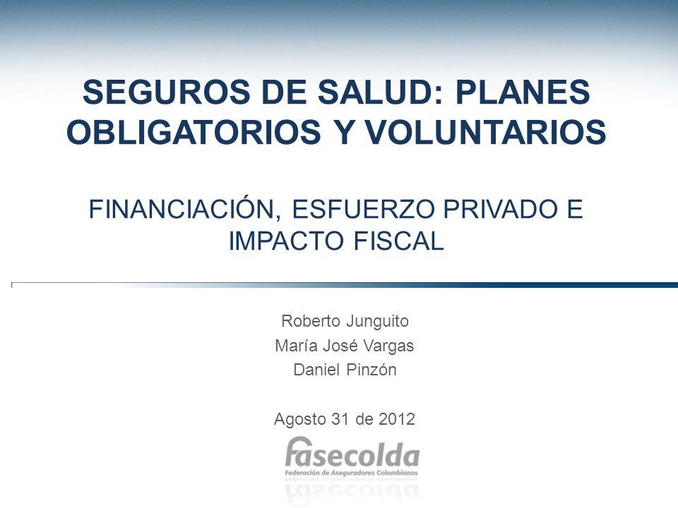 SEGUROS DE SALUD: PLANES OBLIGATORIOS Y VOLUNTARIOS FINANCIACIÓN, ESFUERZO PRIVADO E IMPACTO FISCAL
