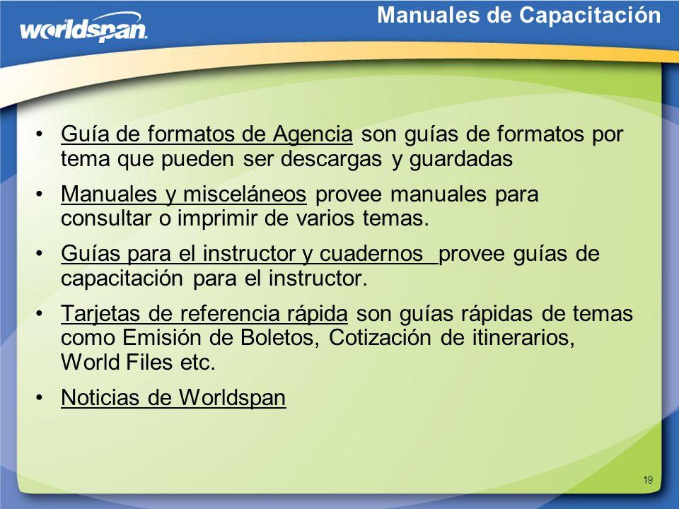 Manuales de Capacitación