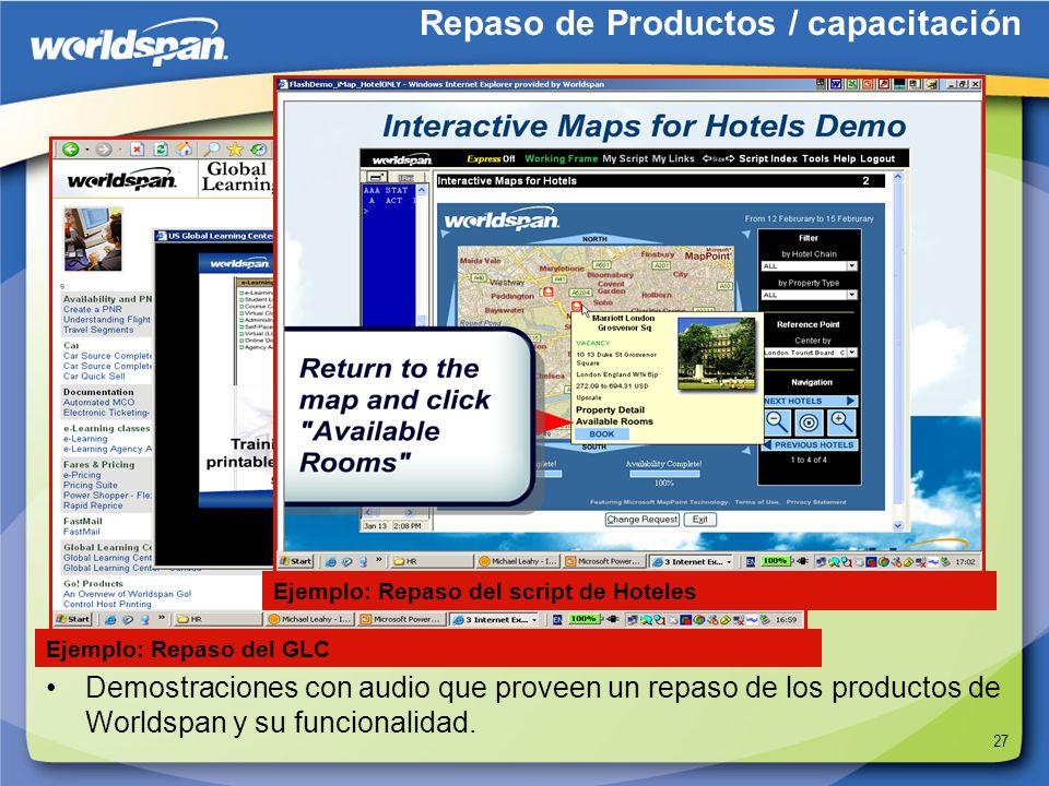 Repaso de Productos / capacitación