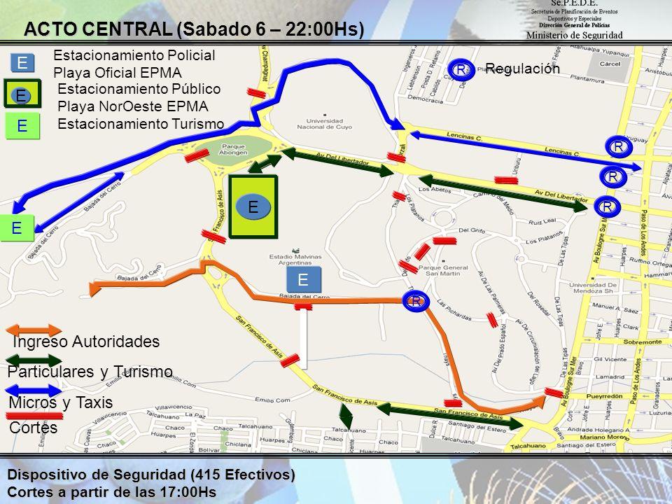 ACTO CENTRAL (Sabado 6 – 22:00Hs)