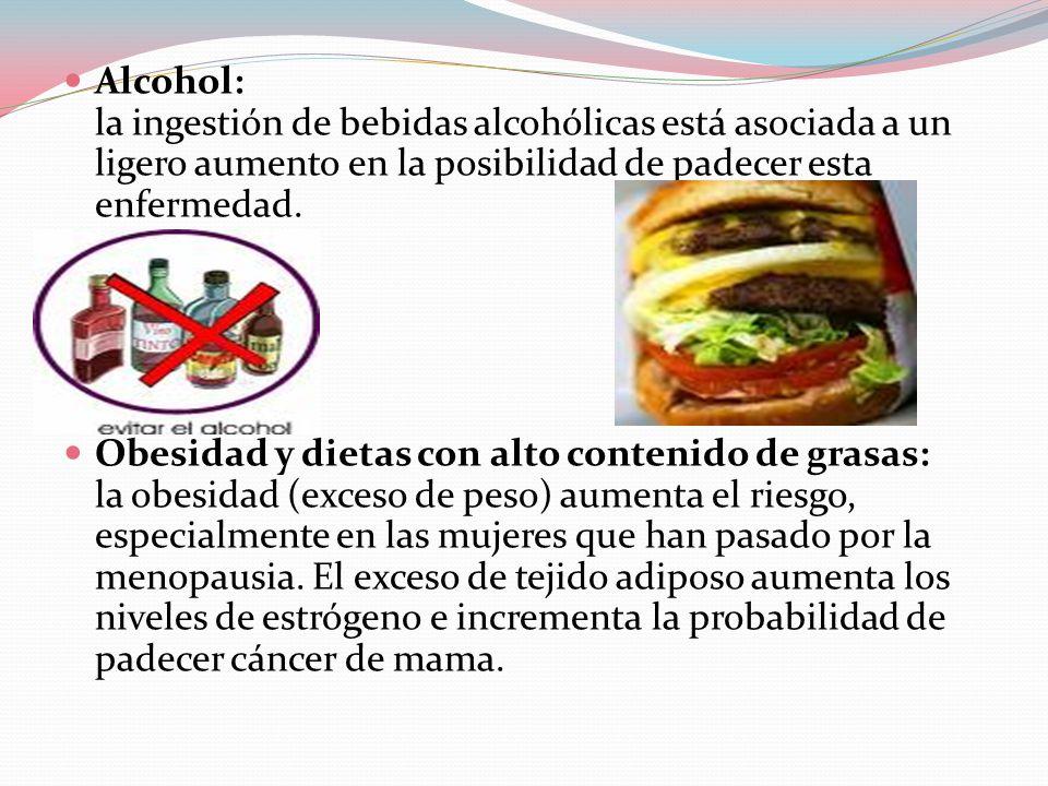 Alcohol: la ingestión de bebidas alcohólicas está asociada a un ligero aumento en la posibilidad de padecer esta enfermedad.