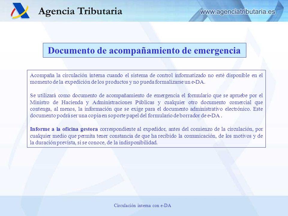 Documento de acompañamiento de emergencia