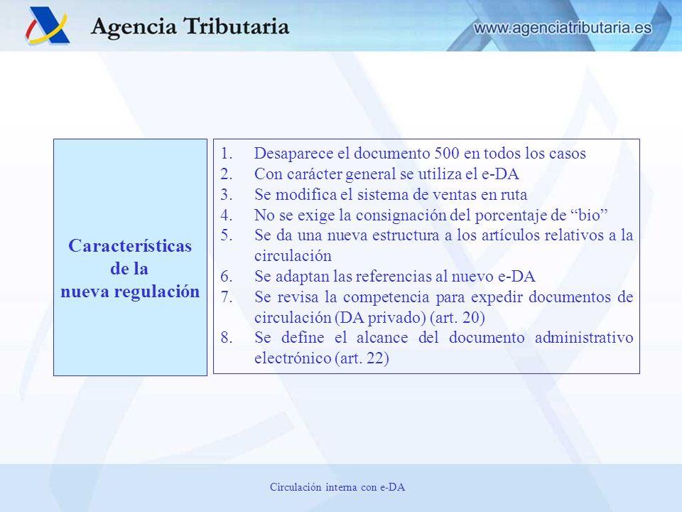 Circulación interna con e-DA