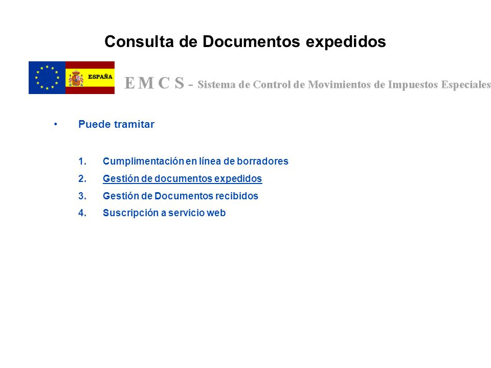 Consulta de Documentos expedidos