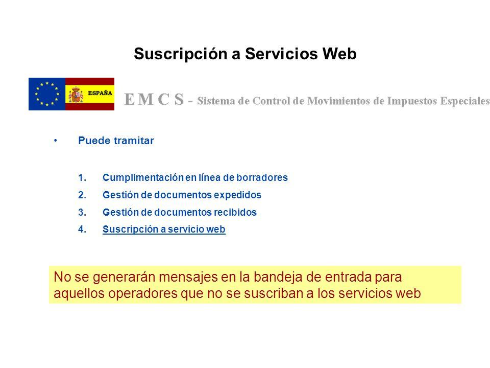 Suscripción a Servicios Web