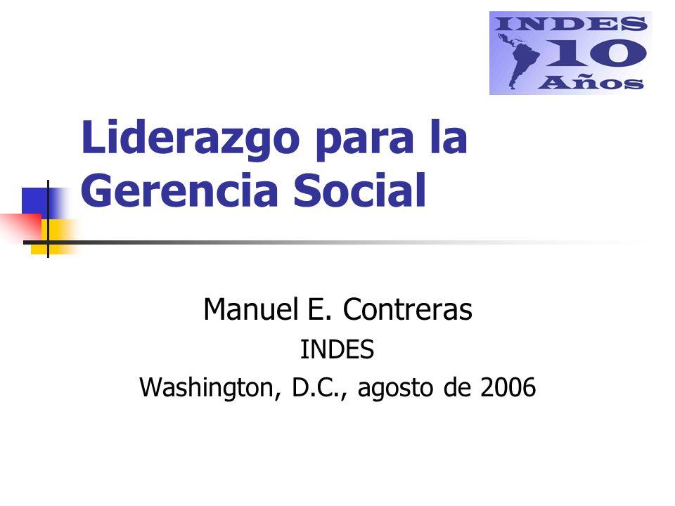 Liderazgo para la Gerencia Social