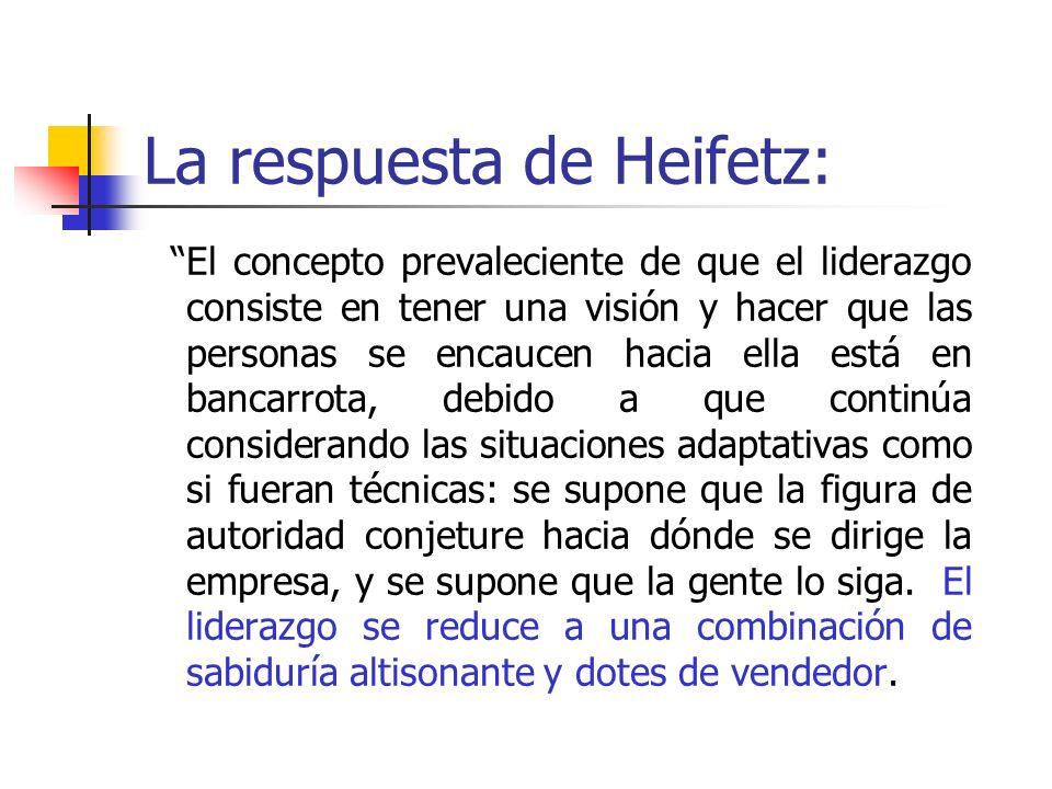La respuesta de Heifetz: