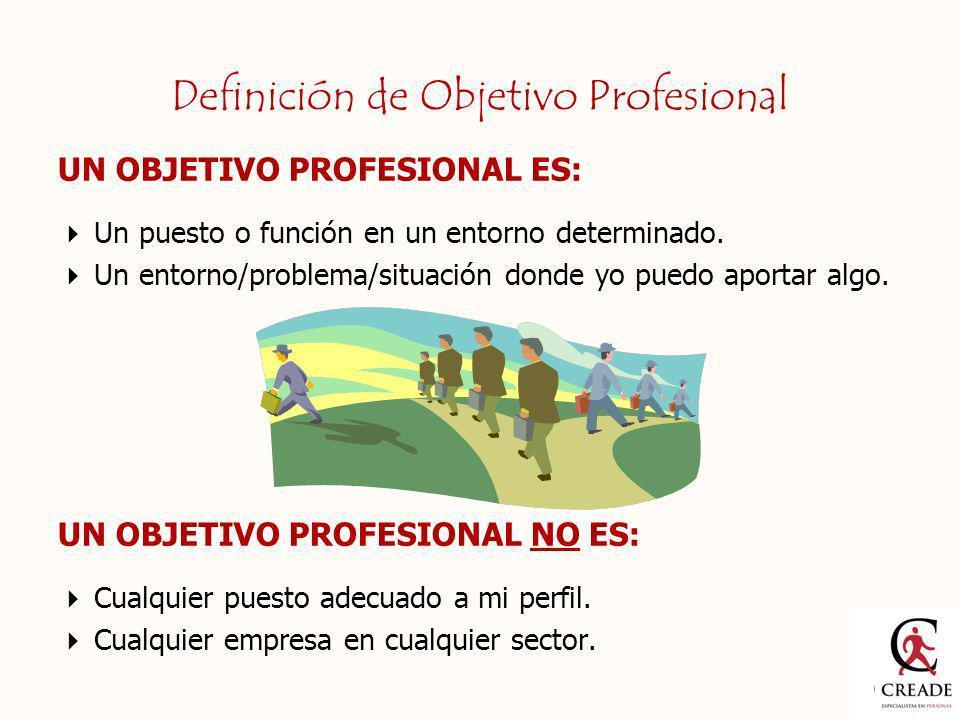 Definición de Objetivo Profesional