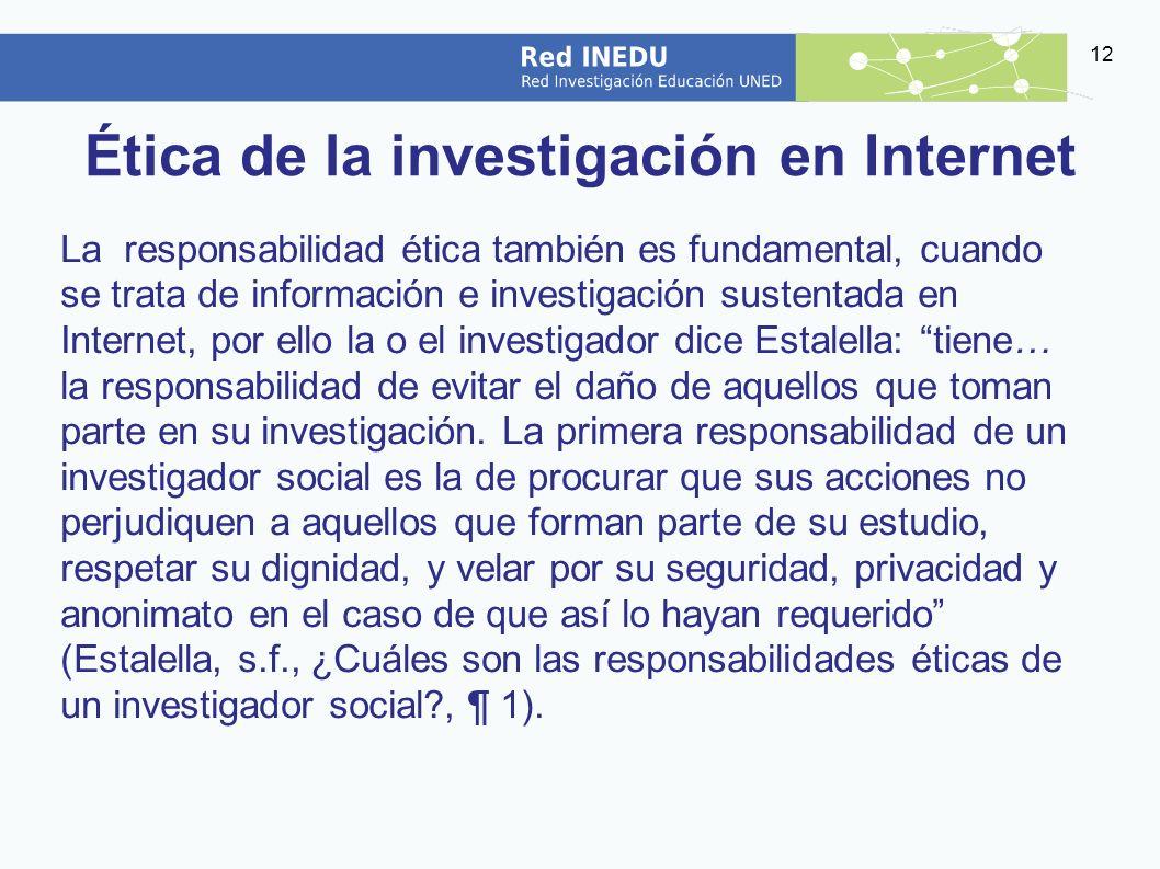 Ética de la investigación en Internet