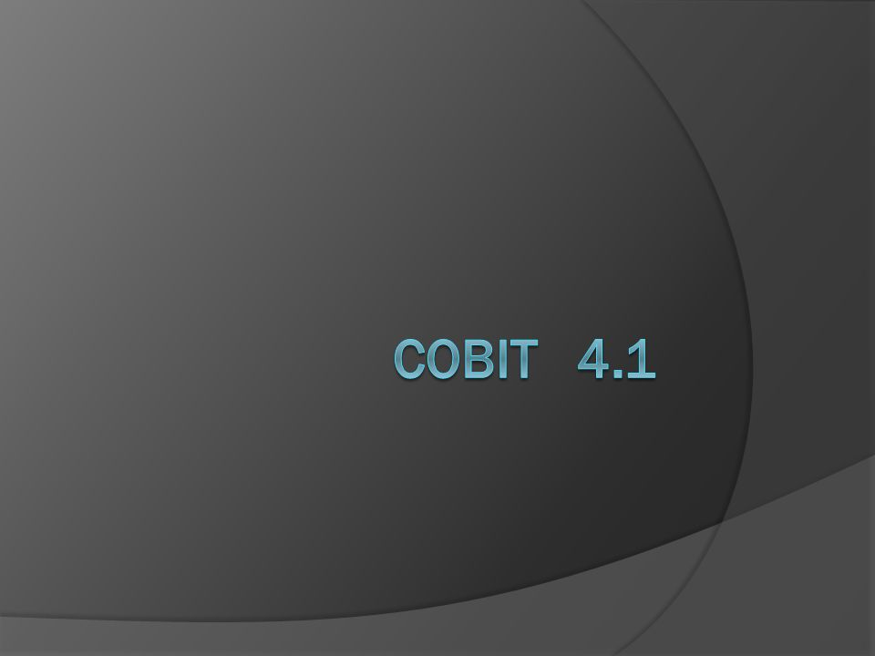 COBIT 4.1