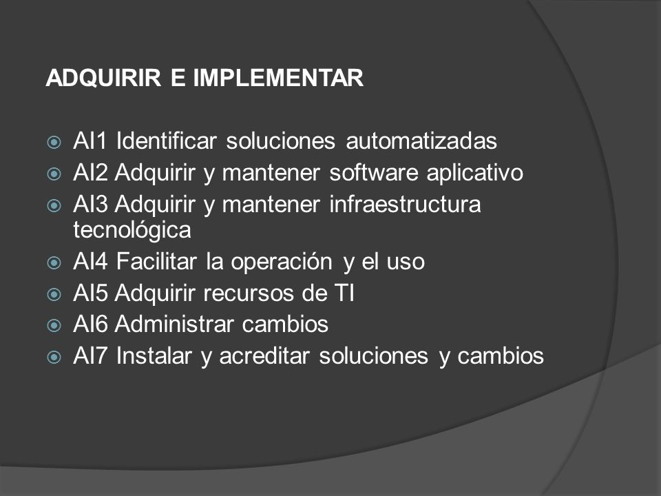ADQUIRIR E IMPLEMENTAR