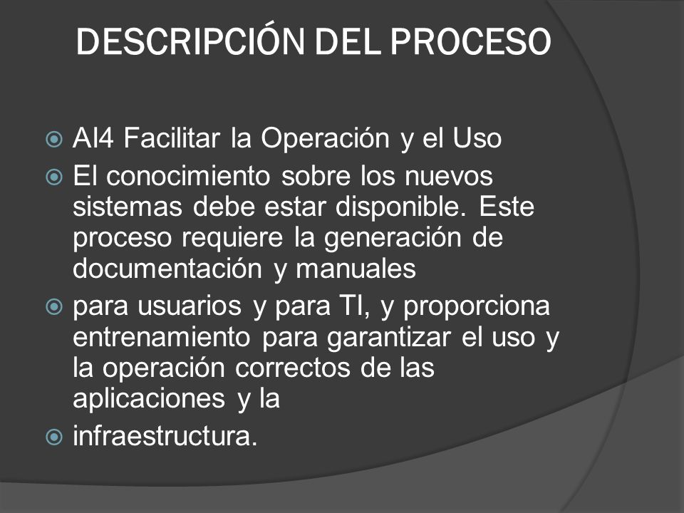 DESCRIPCIÓN DEL PROCESO
