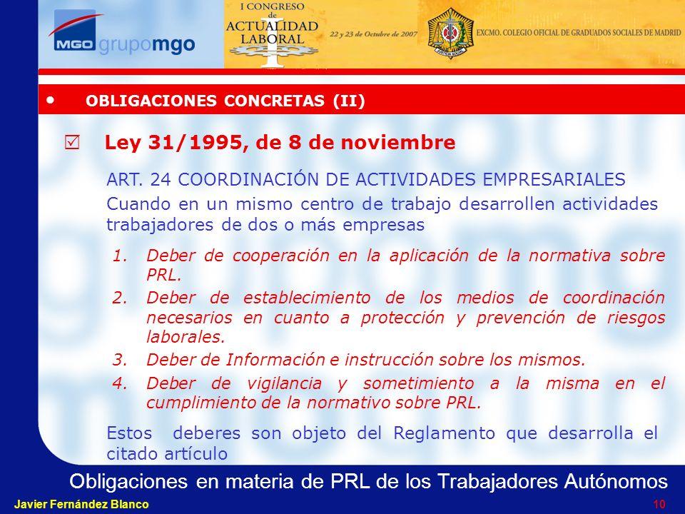 OBLIGACIONES CONCRETAS (II)