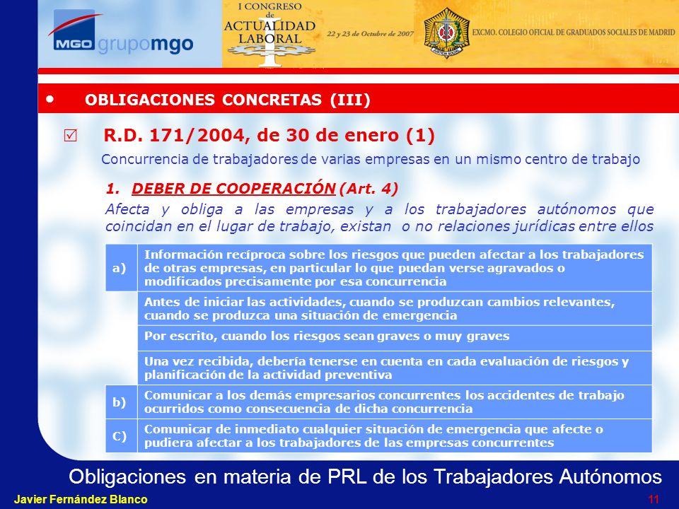 OBLIGACIONES CONCRETAS (III)