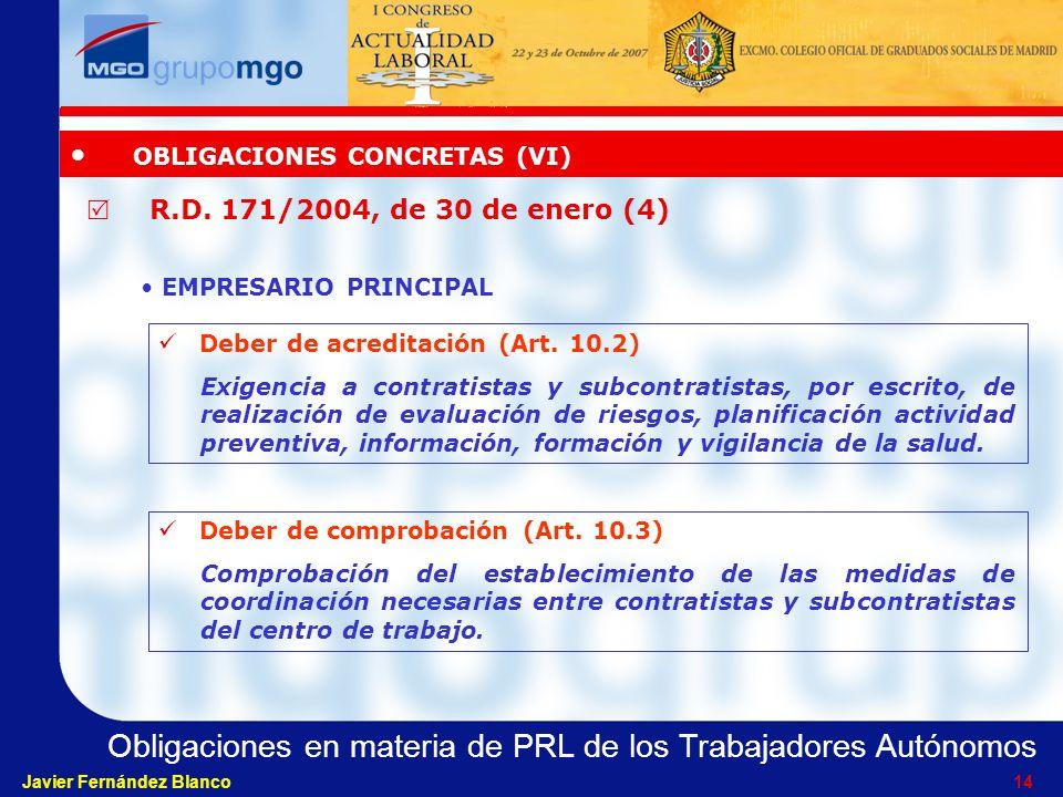 OBLIGACIONES CONCRETAS (VI)