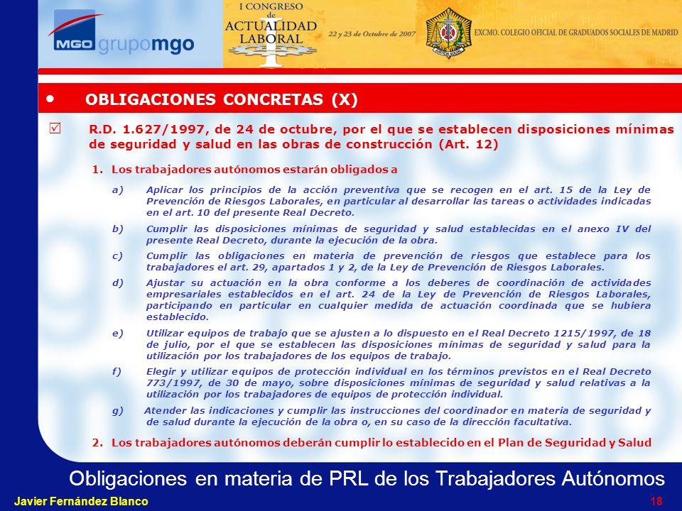OBLIGACIONES CONCRETAS (X)