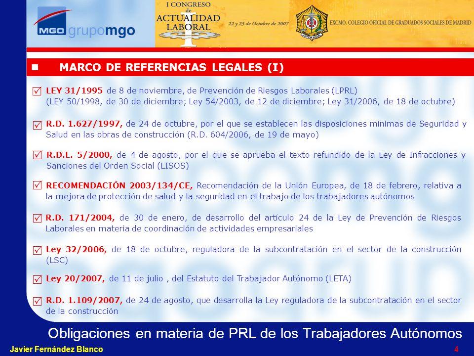 MARCO DE REFERENCIAS LEGALES (I)