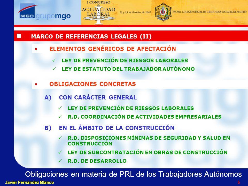 MARCO DE REFERENCIAS LEGALES (II)