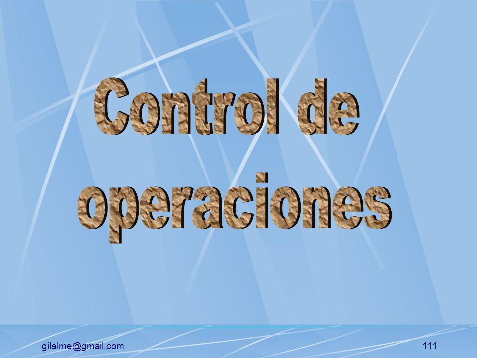 Control de operaciones gilalme@gmail.com