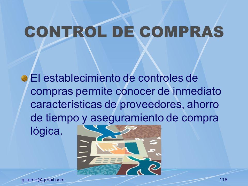 CONTROL DE COMPRAS
