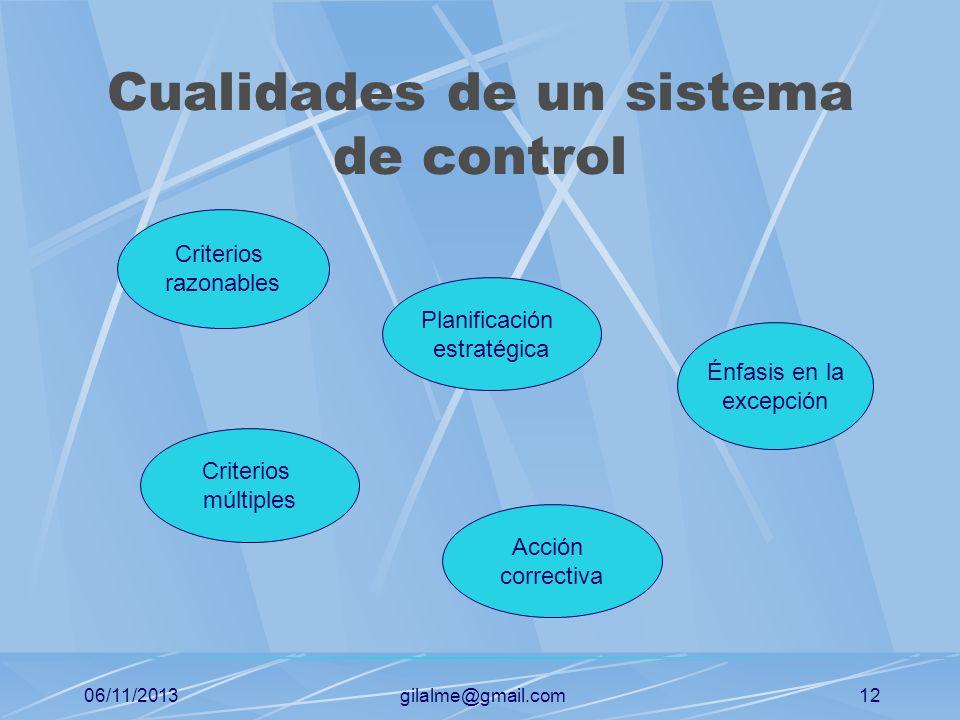Cualidades de un sistema de control