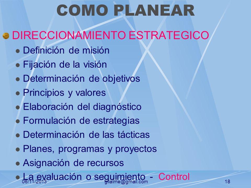 COMO PLANEAR DIRECCIONAMIENTO ESTRATEGICO Definición de misión