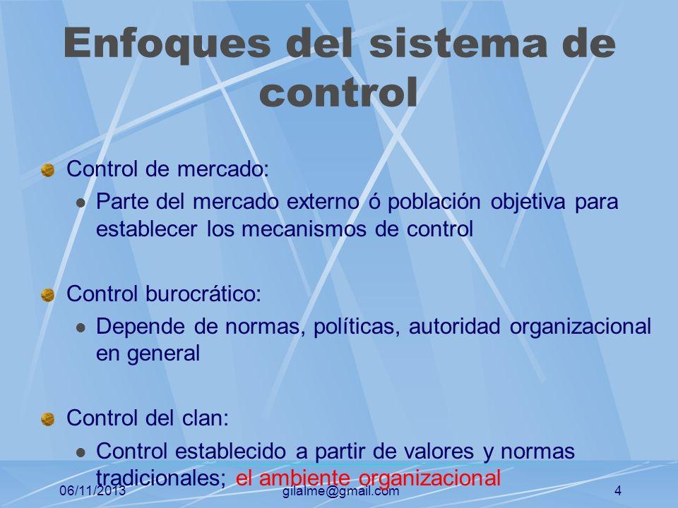 Enfoques del sistema de control