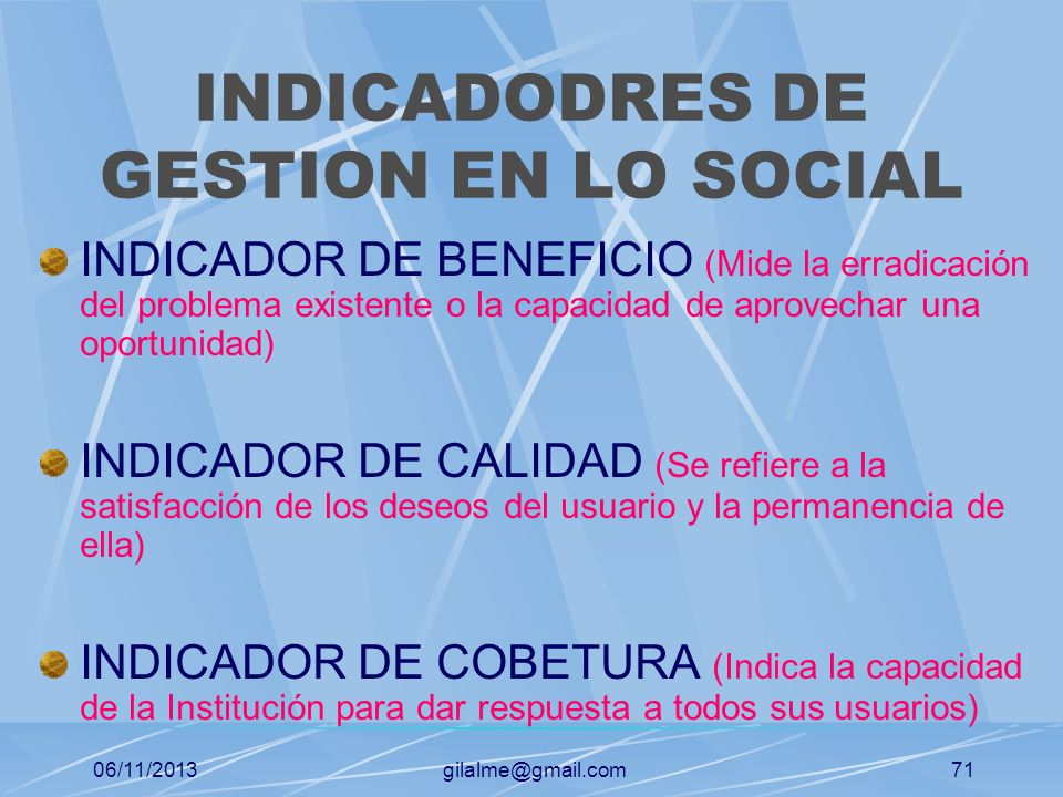 INDICADODRES DE GESTION EN LO SOCIAL