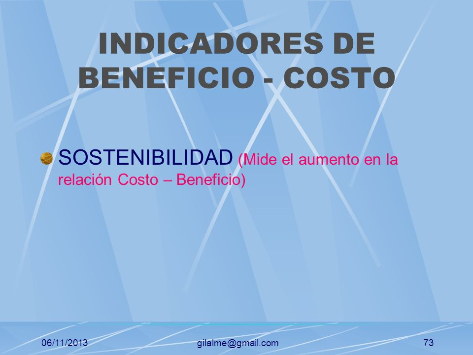 INDICADORES DE BENEFICIO - COSTO