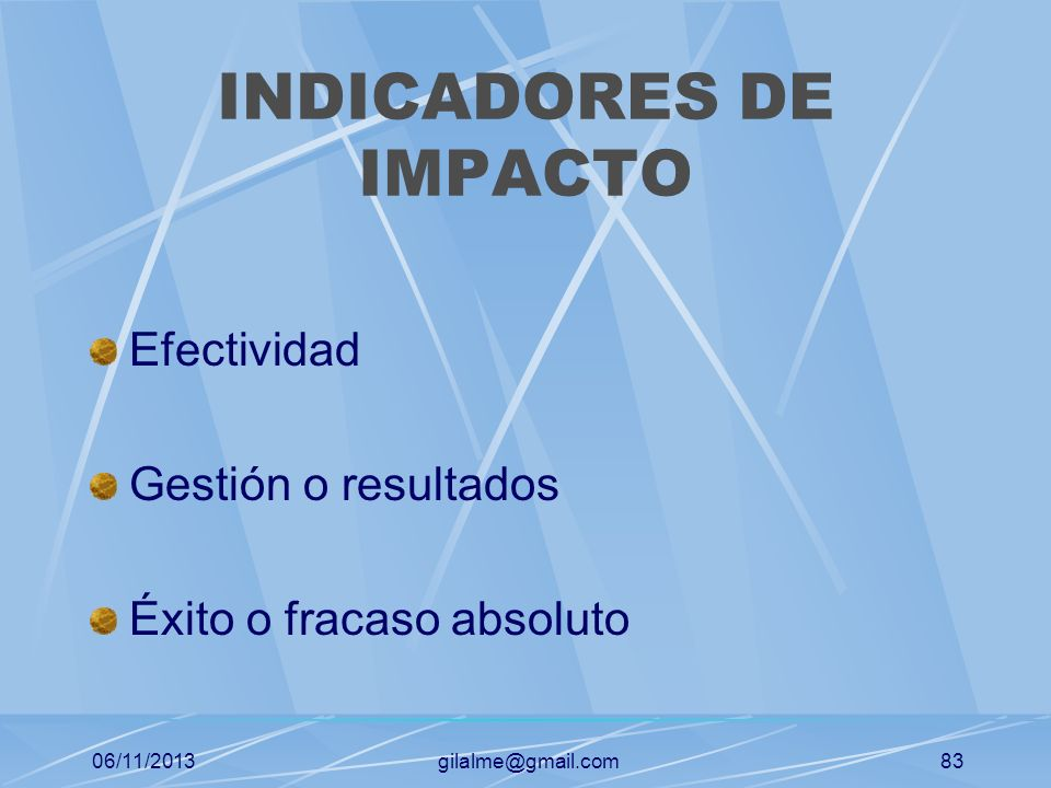 INDICADORES DE IMPACTO