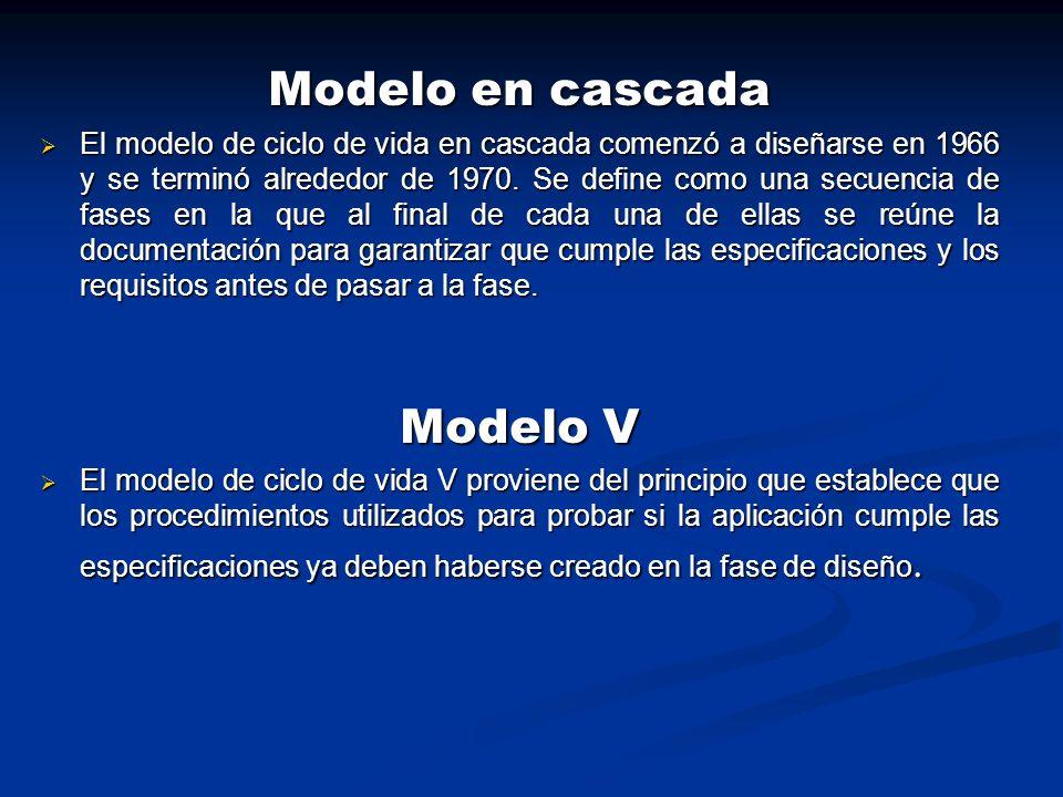 Modelo en cascada Modelo V