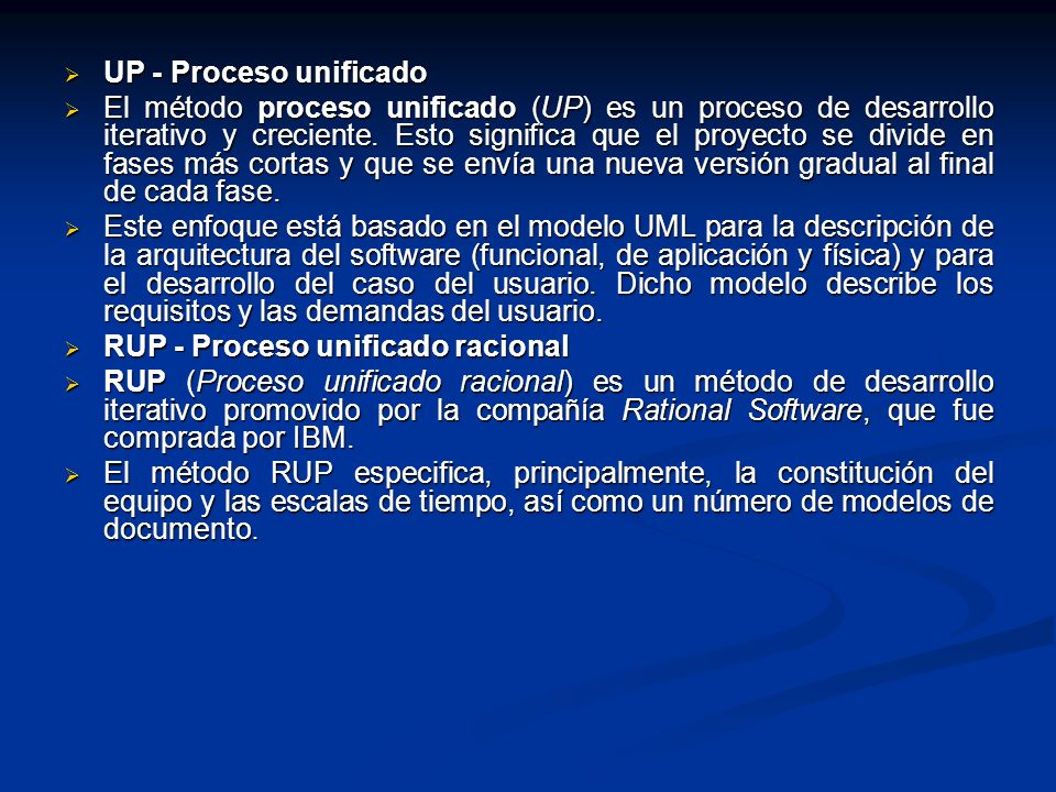 UP - Proceso unificado
