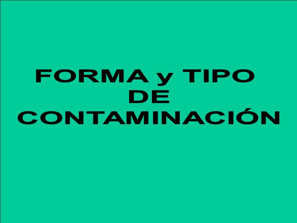 FORMA y TIPO DE CONTAMINACIÓN