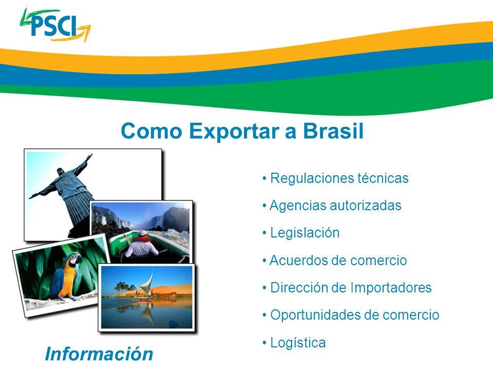 Como Exportar a Brasil Información Regulaciones técnicas