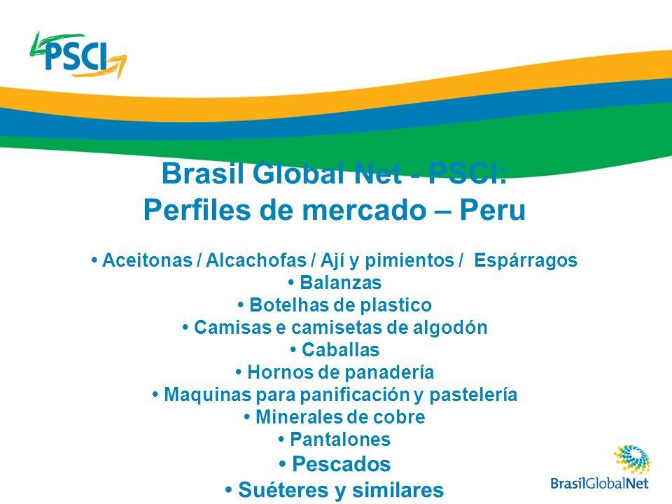 Brasil Global Net - PSCI: Perfiles de mercado – Peru