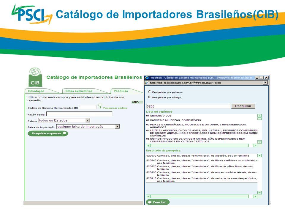 Catálogo de Importadores Brasileños(CIB)