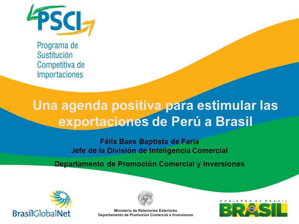 Una agenda positiva para estimular las exportaciones de Perú a Brasil